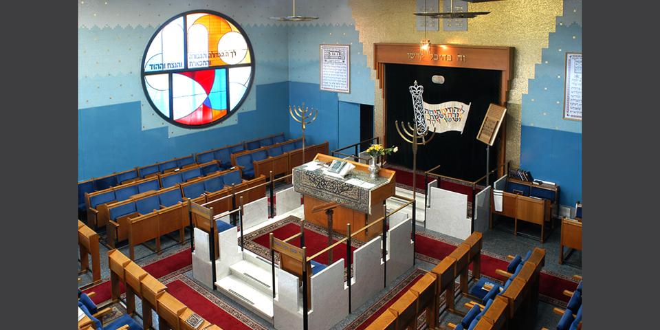 Milan internal Noam synagogue via the gallery © Alberto Jona Falco