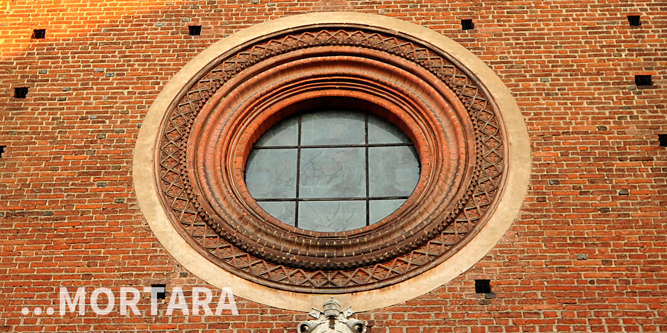 Mortara, round window on Mortara's Duomo façade © Alberto Jona Falco