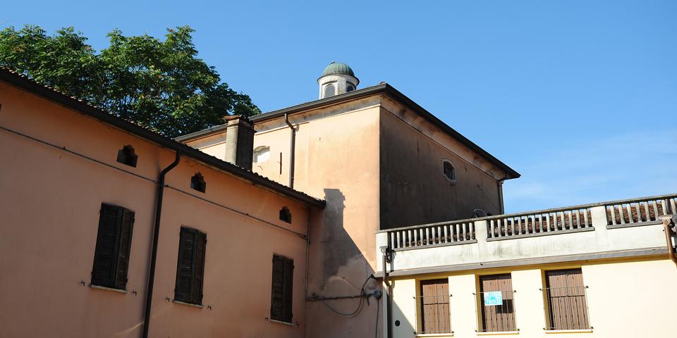 Pomponesco edificio con cupola che ospitava la sinagoga © Alberto Jona Falco