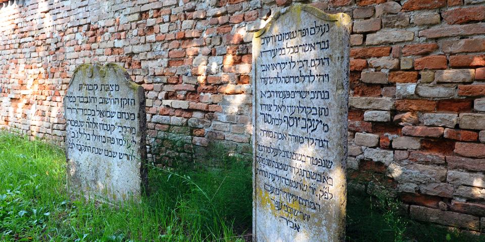Bozzolo, two of the three eighteenth-century gravestones © Alberto Jona Falco