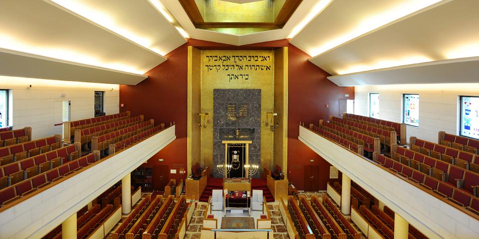 Milan internal central synagogue © Alberto Jona Falco