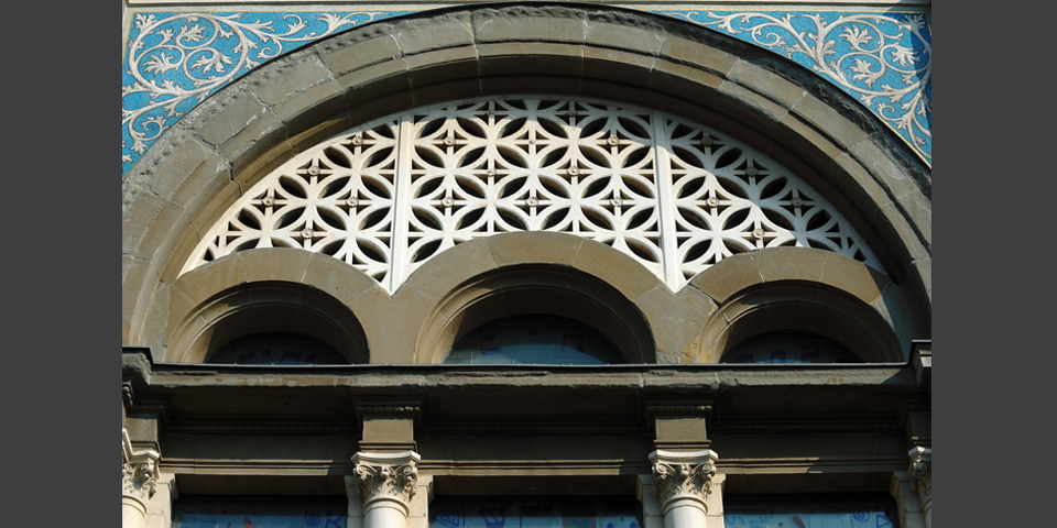 Milan central detail of the facade of the synagogue © Alberto Jona Falco