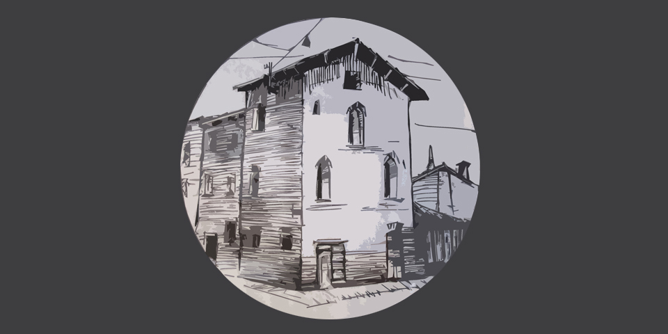 Soncino, drawing of the Jewish printers' house © Alberto Jona Falco