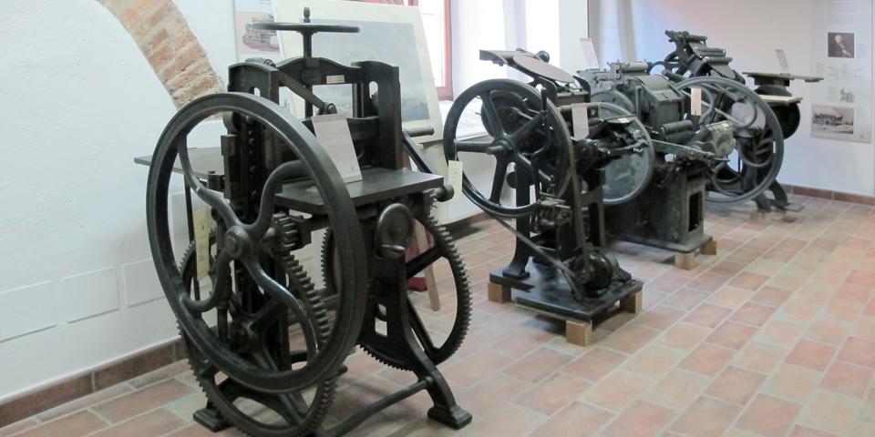 Soncino,the Jewish printers' house, printing press © Alberto Jona Falco