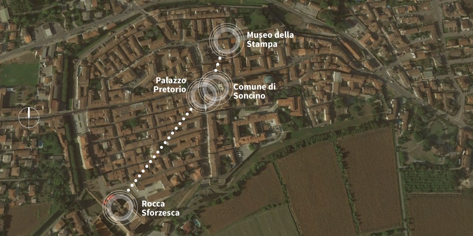 map of Soncino