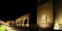 Abbiategrasso, Visconteo Castle, the colonnade by night © Alberto Jona Falco
