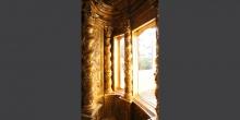 Mantova particolare delle finestre dell'armadio sacro interno sinagoga © Alberto Jona Falco