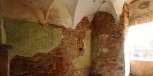 Ostiano possibile sala per bagno rituale al pt del palazzo ove si trovava la sinagoga all'interno del castello © Alberto Jona Falco