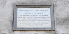 Pomponesco lapide in memoria di Cantoni, particolare © Alberto Jona Falco
