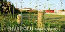 Rivarolo Mantovano lapidi riportate all'esterno del cimitero © Alberto Jona Falco