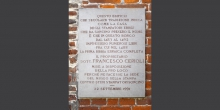 Soncino, Gravestone on the Jewish printers' house © Alberto Jona Falco